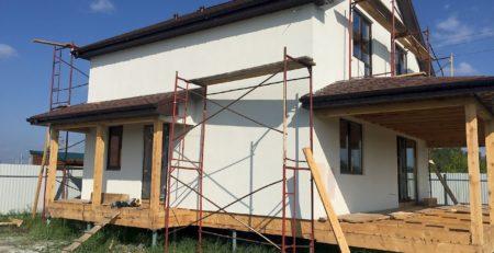 Винтовой фундамент для каркасного дома