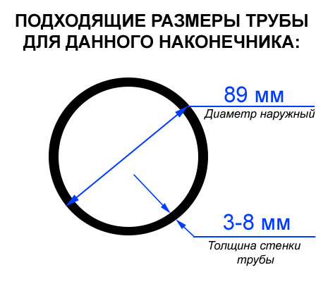Размеры трубы 89 сваи