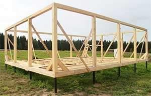 Фундамент на винтовых сваях для деревянного дома