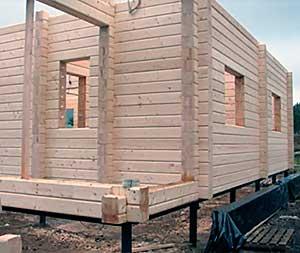 Винтовые сваи для строительства дома из бруса или бревна