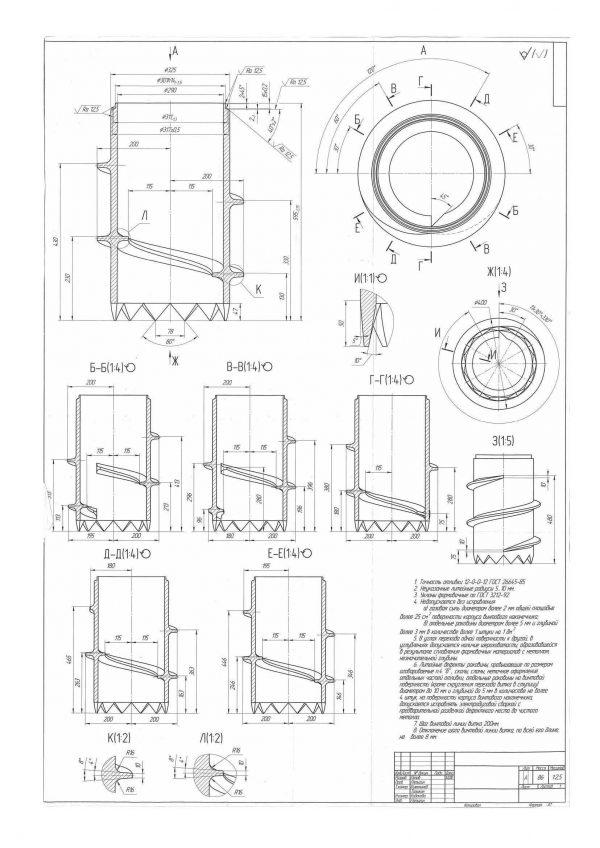 Литой наконечник для винтовой сваи вечной мерзлоты СВЛМ 325/400