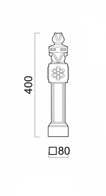 Столбик ограждения чугунный 670 мм
